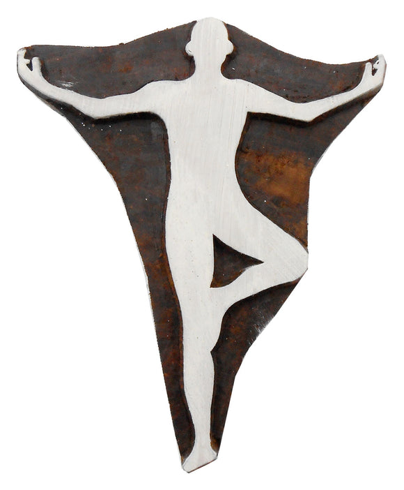 Tree Pose/Vrikshasana Yoga Wooden Block Stamps/Tattoo/Handcarved Indian Textile Printing Blocks