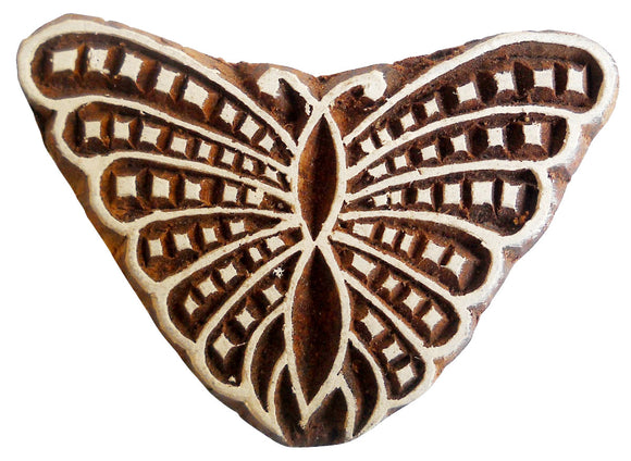 Butterfly rare Wooden Printing Block/Stamp Textile Fabric Printing Apparel India