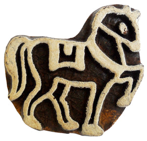 Horse rare design Wooden Printing Block/Stamp Textile Fabric Printing India