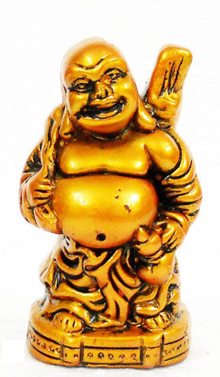 Crafts of India : Terracotta Sculpture Laughing Buddha TC 025