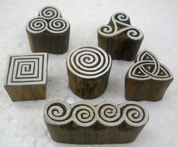 Wholesale Pack of Elegant Designs Wooden Block Stamps/Tattoo/Indian Textile Printing Blocks