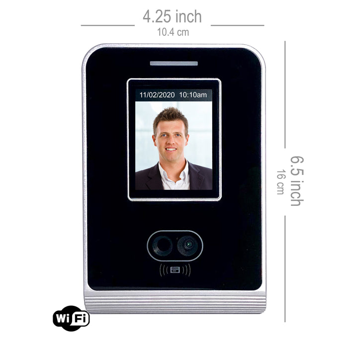 Facial Recognition Biometric Time Clock recorder with