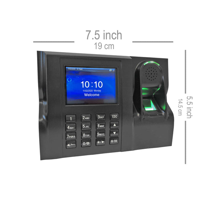 GeoTime 200 Time Clock System, Biometric fingerprint with Vacation and Sickness Module. FREE Export to payroll. 12 months Support. No monthly fees. You own it. 1 year warranty.