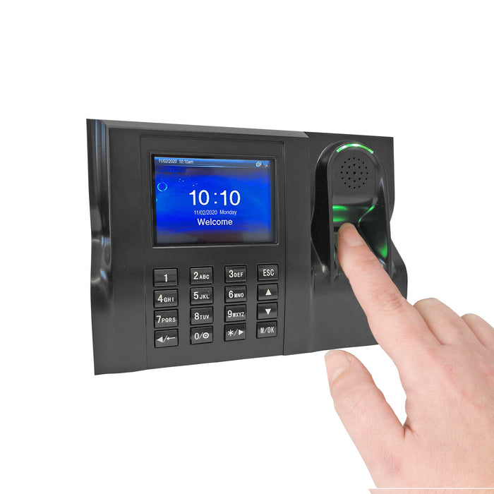 GeoTime 100, Time Clock Software System, Biometric fingerprint – eliminates 'buddy punching'. Accurate and Reliable, FREE Export to payroll. Live attendance Dashboards, No Subscriptions. 1 year warranty. 12 months FREE Support.