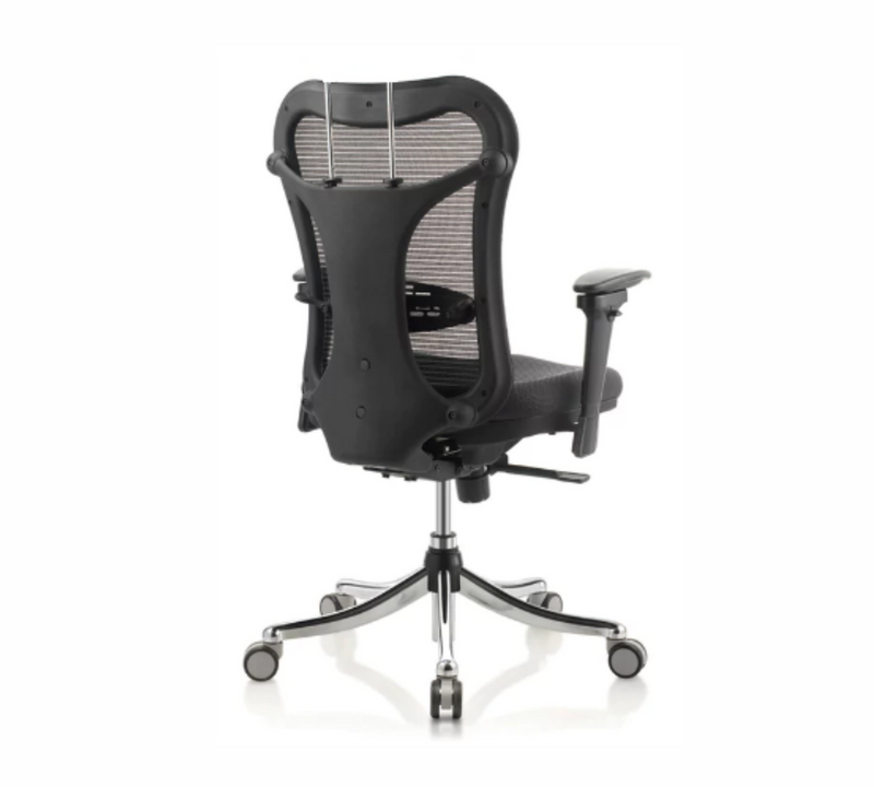 Med back Office chair with chrome base