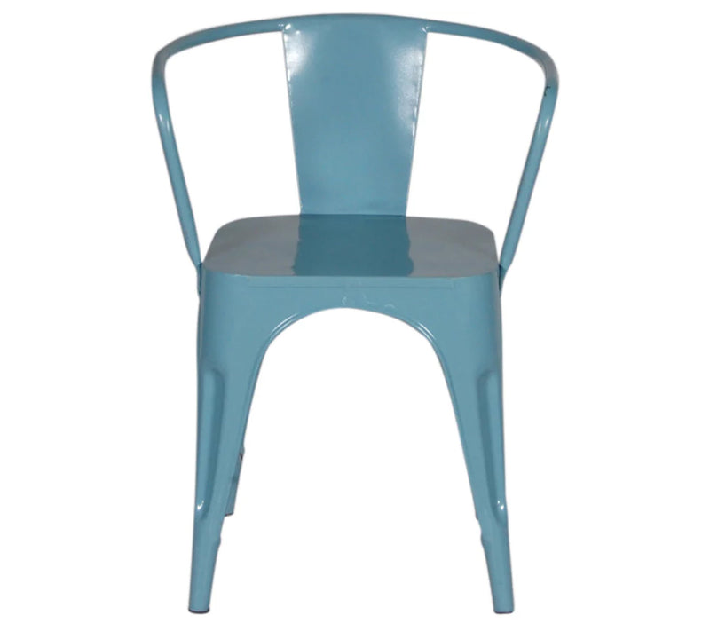 Cafe chair with metal frame