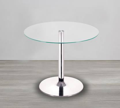 Café table with stainless steel frame