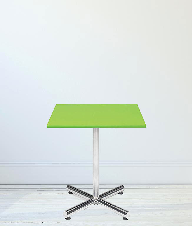Café table with chorme base