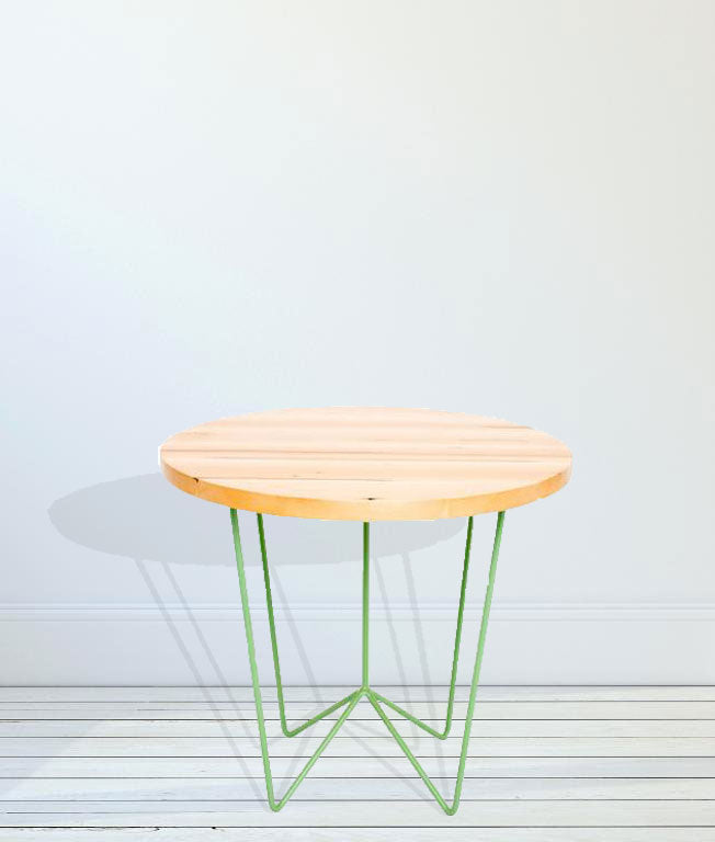 Cafe Table with Wooden Top