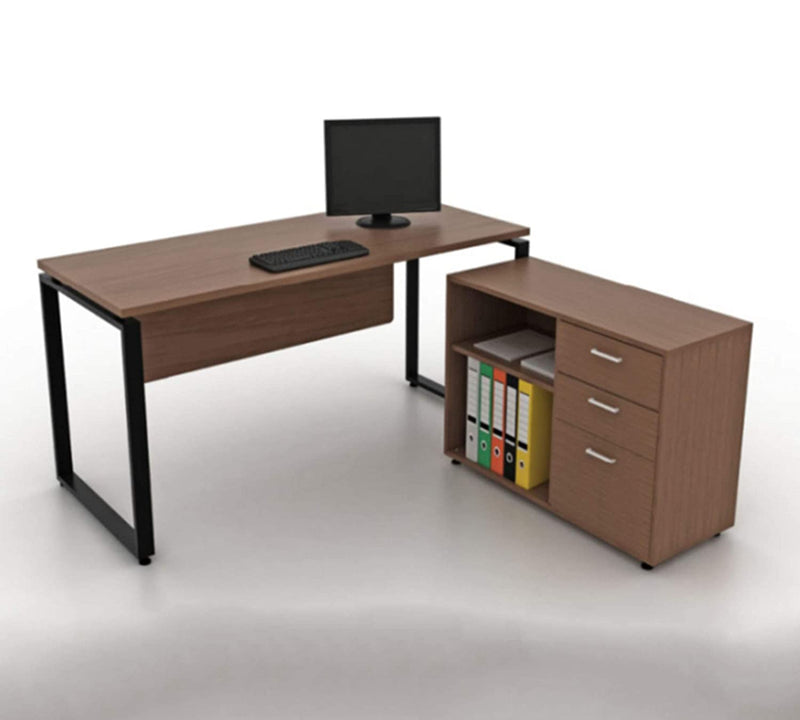 Office desk and study table 18 mm thick plb board modesty with side runner   wenge