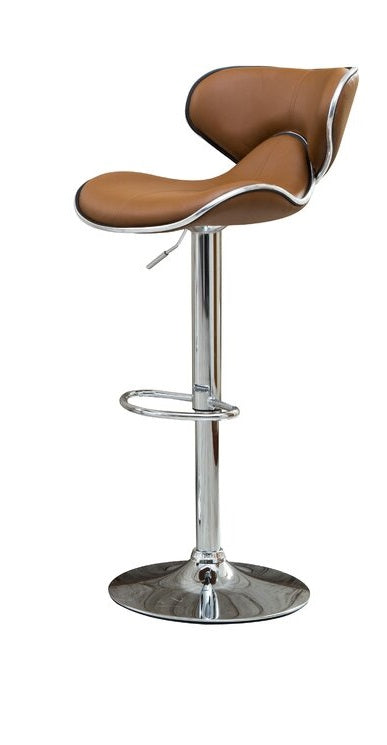 Leatherette bar stool with Chrome base
