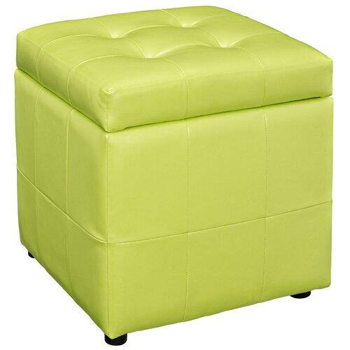 Fully cushioned faux leather ottoman