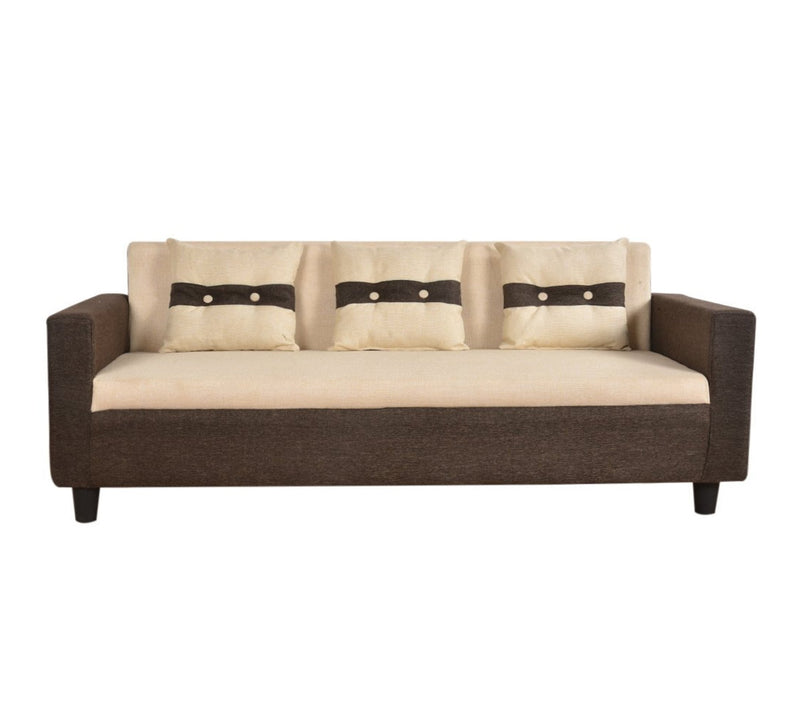 Fully Cushioned Fabric Sofa with Wooden base