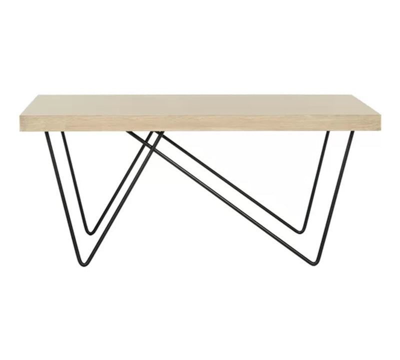 Center Table with metal base and 25 mm thick particle board with pvc edge banding finish