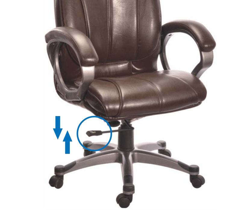High back leatherette director Chair with aluminium base