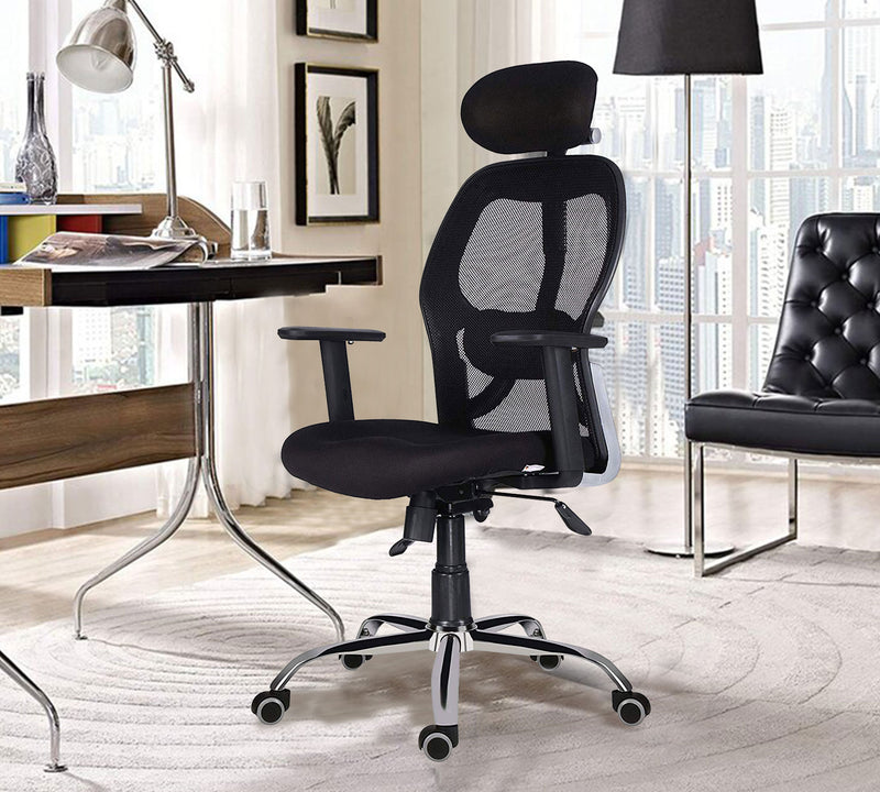 Office chair with adjustable arm