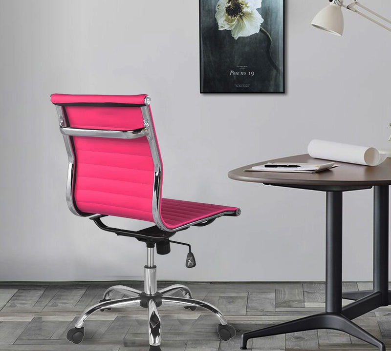 Leatherette Visitor Chair with Chrome Base