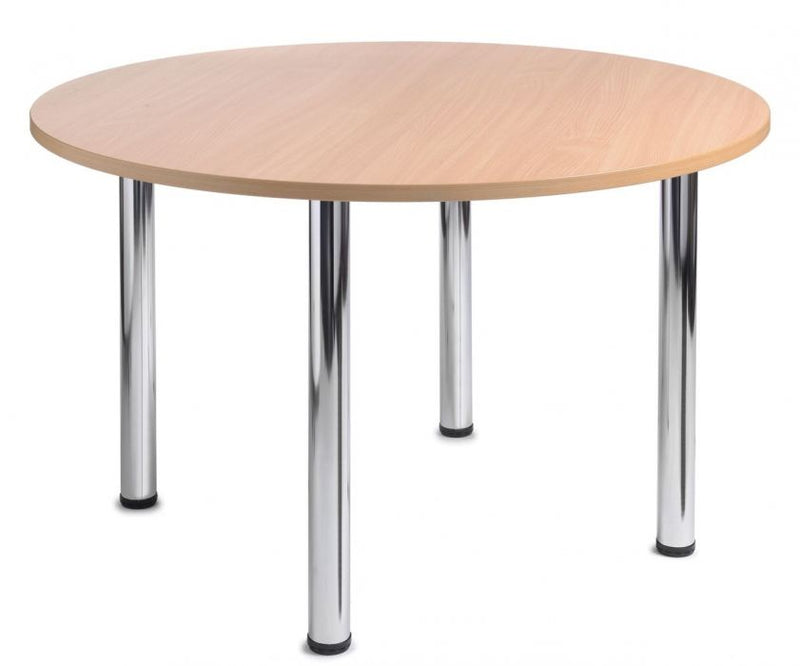 Café table with stainless steel base