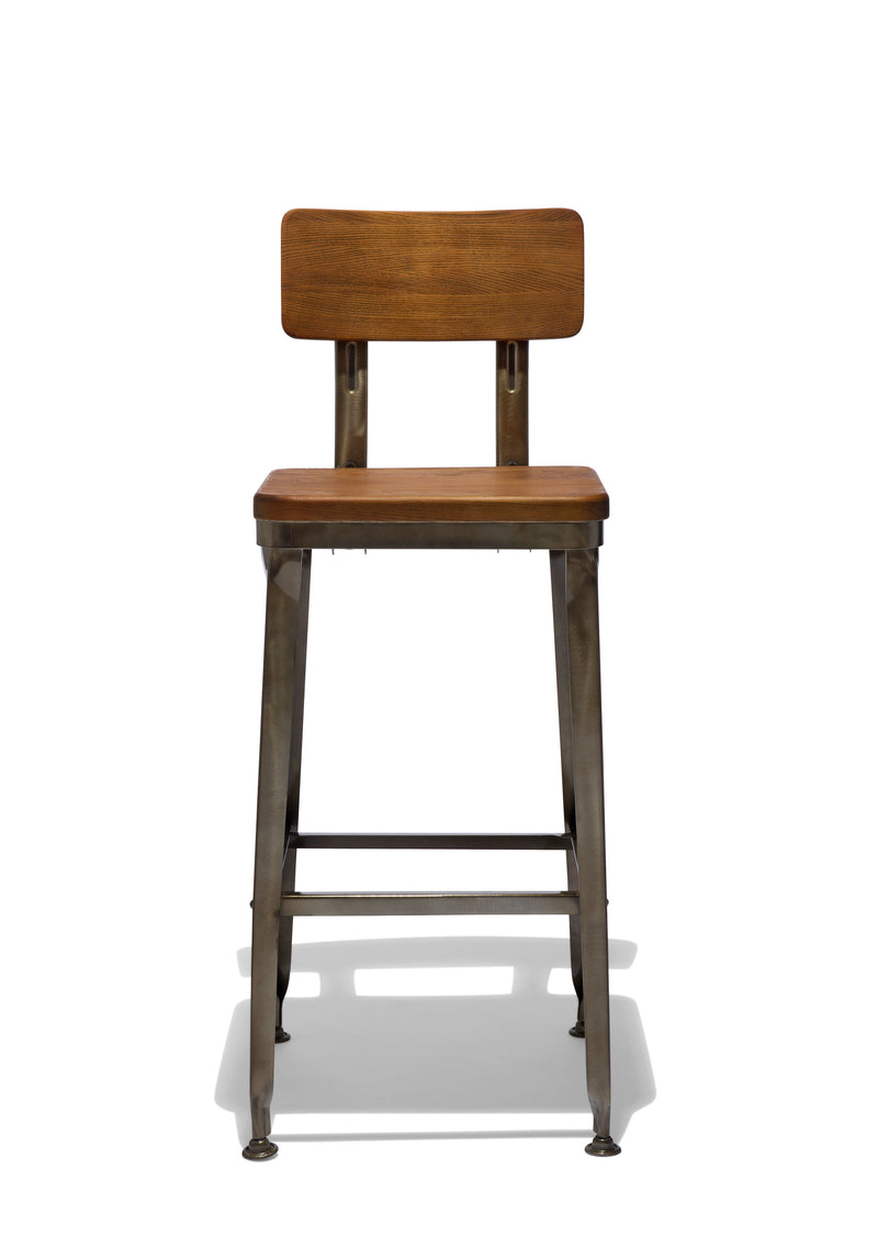Metal Base Barstool with Metal