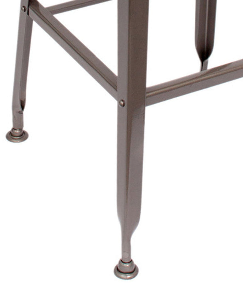 Wooden bar stool with Metal base