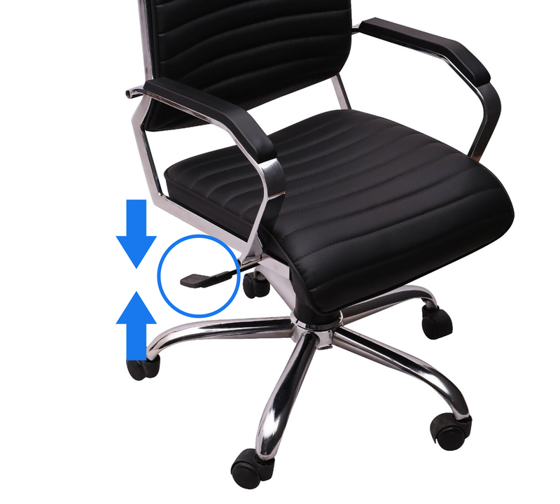 Leatherette Office Chair with Chrome Base