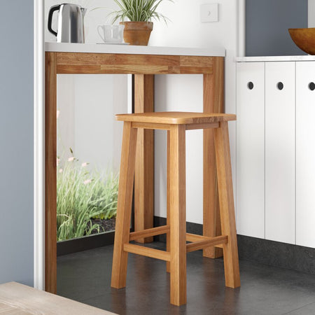 Wooden Legs Barstool with Wooden