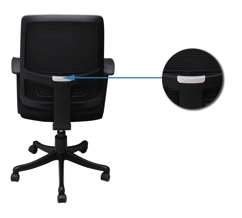 Mesh & Fabric Office Chair with Nylon Base