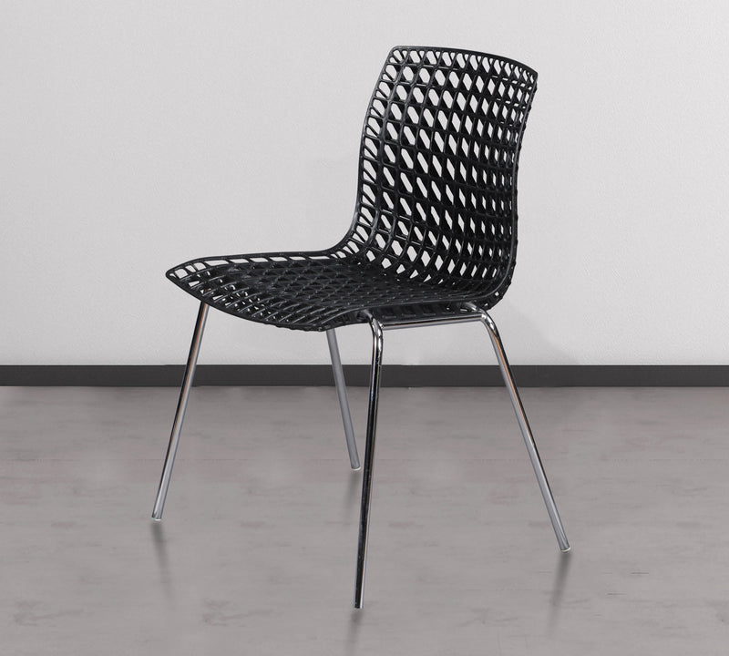 PP Office Chair with Chrome Base