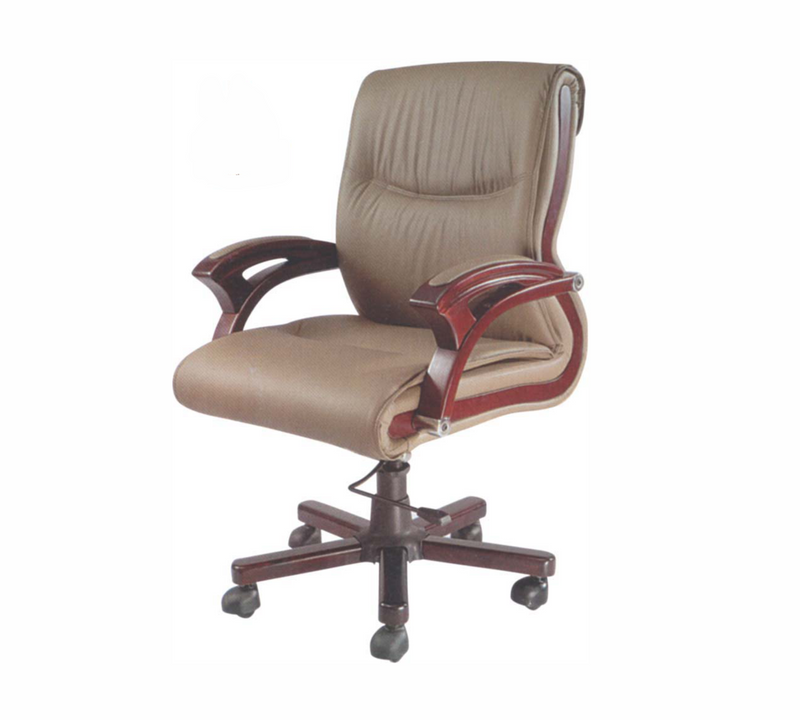 Office chair with wooden base