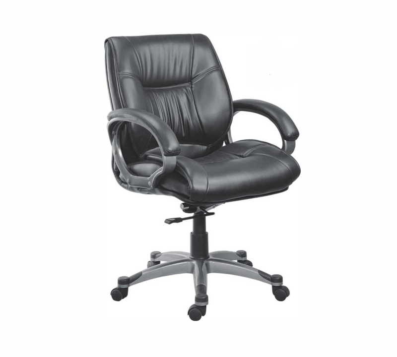 Office chair with aluminium base