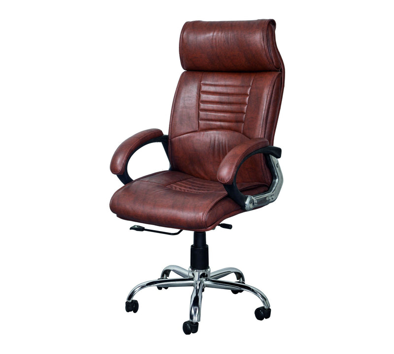 High back leatherette Executive Chair with Chrome base