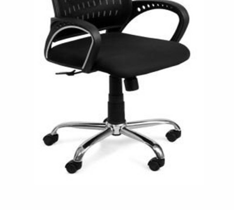 Med back Office Chair with chrome base set of 2