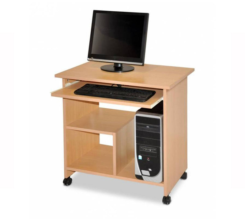 Computer Table with 18 mm thick modesty and one side open drawer