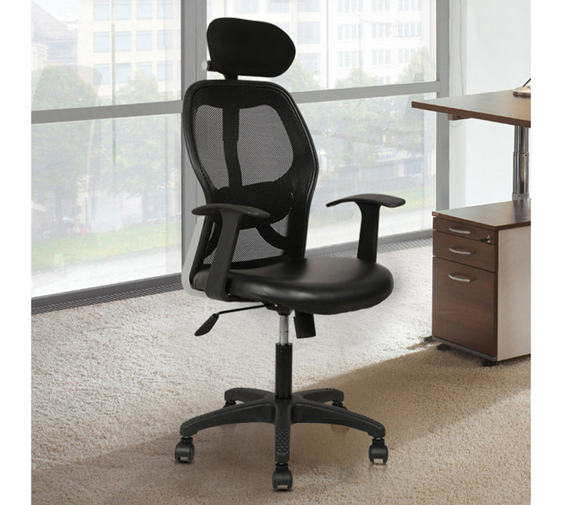 Office chair with t shape armrest