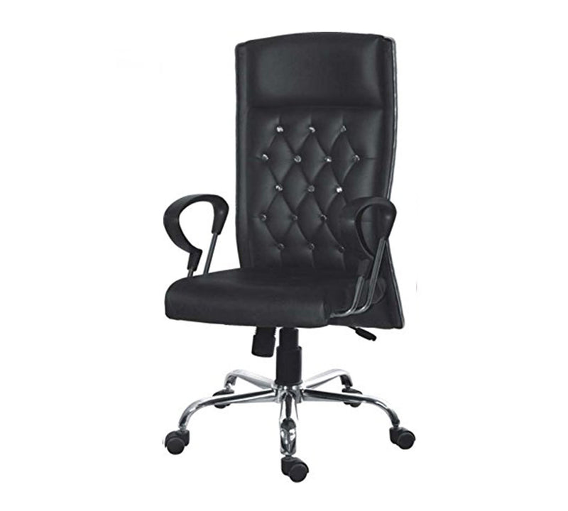 High back Leatherette director Chair with chrome base