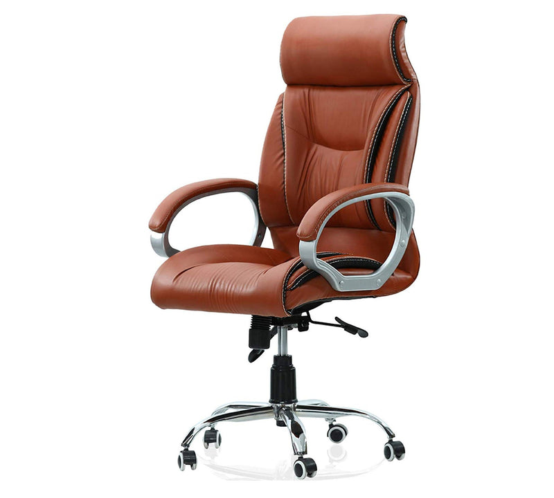 High Back Leatherette Director chair with headrest and aluminium base