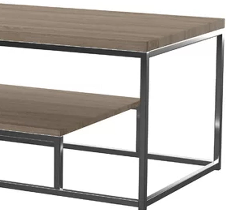 Center Table with metal base and 18 mm thick particle board and pvc edge banding finish