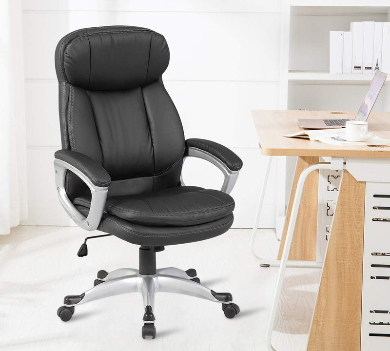 Office chair with aluminium fixed arm
