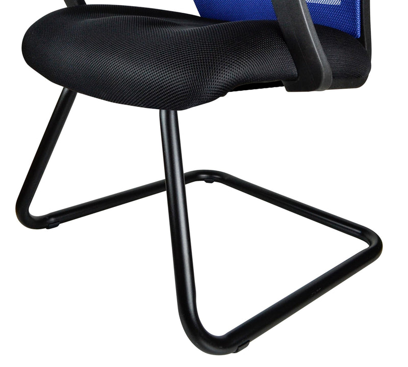 Med back visitor Chair with metal base