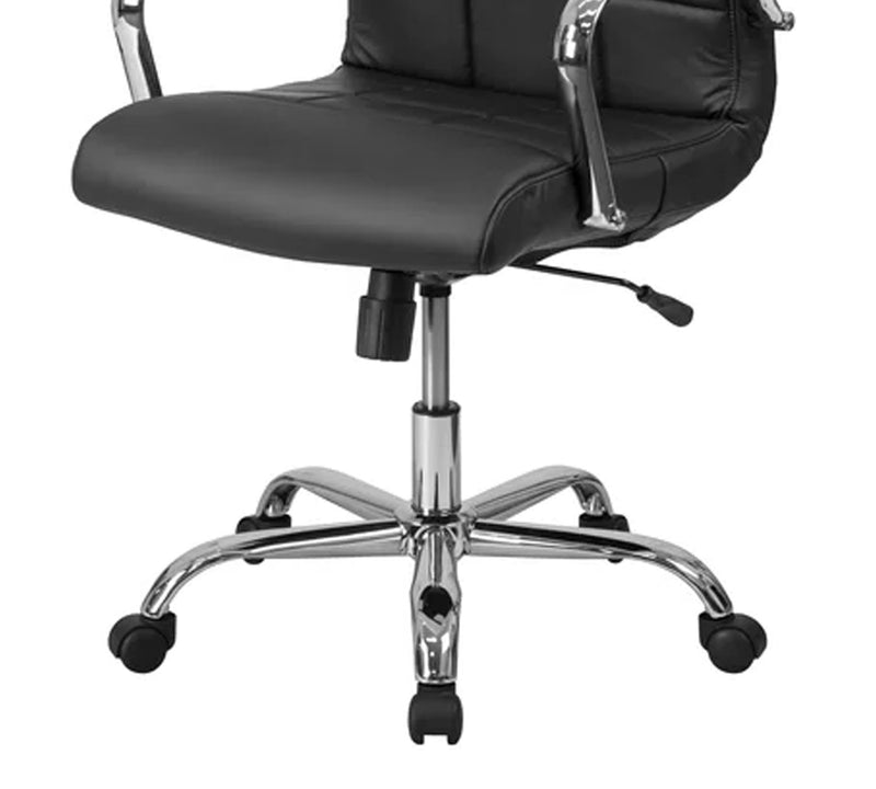 Office chair with fixed armrest