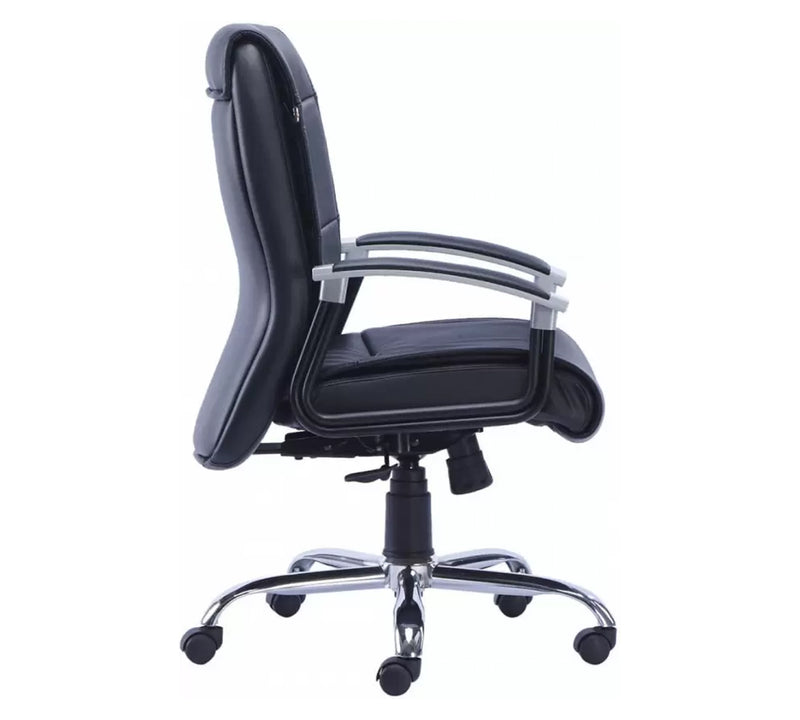PU Leatherette Office Chair with Chrome Base