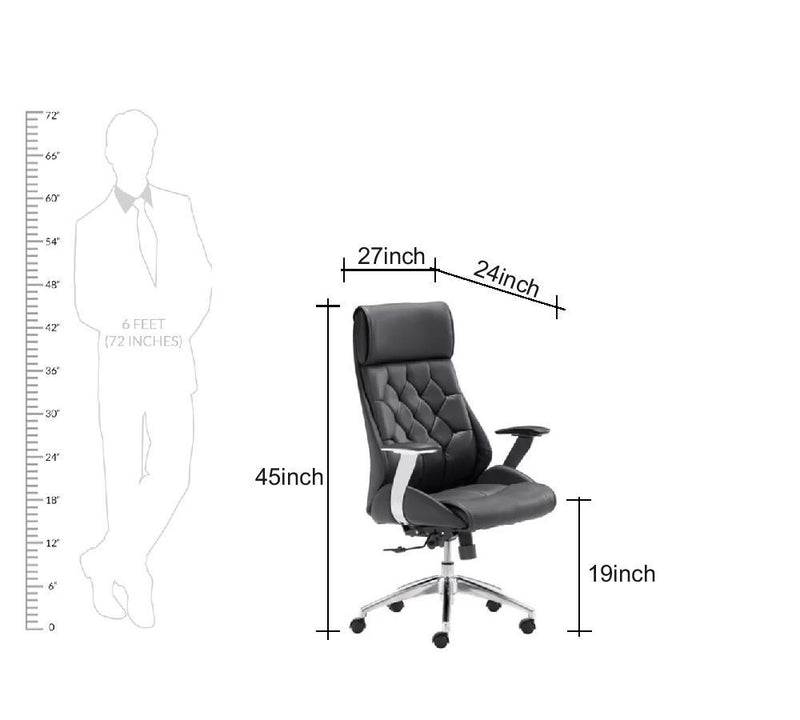 High Back Leatherette Ergonomic director chair