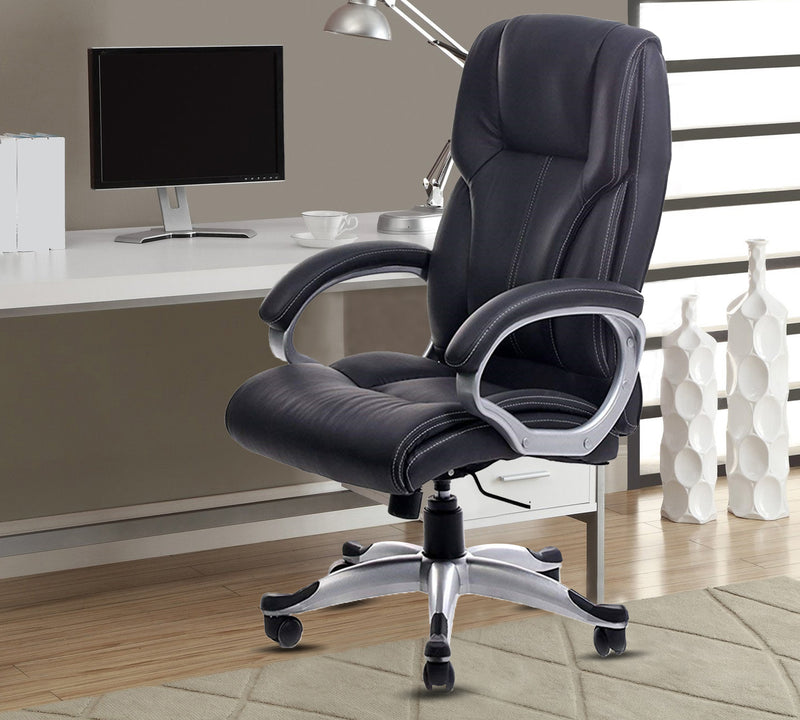 Offie chair with aluminium fixed arm