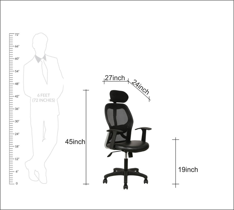 High Back Mesh Office chair with Nylon Base