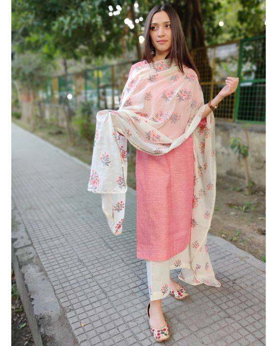 PLAIN SUIT WITH DUPATTA PURE COTTON