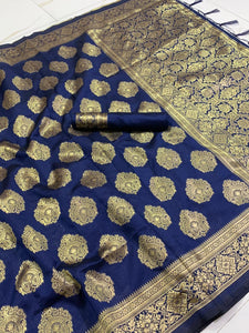 BLUE COLOUR WITH MULTIPLE SHADE WITH BEAUTIFUL AND ATTRACTIVE SAREE FOR WOMEN'S