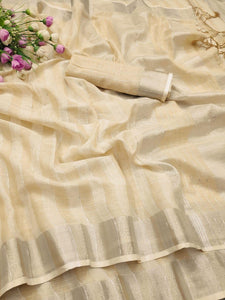 GOLDEN COLOUR WITH BEAUTIFUL AND ATTRACTIVE SAREE FOR WOMEN'S