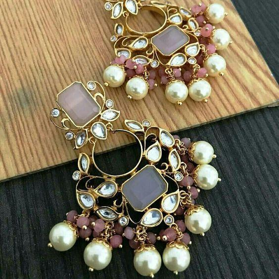 """Gorgeous kundan earrings"