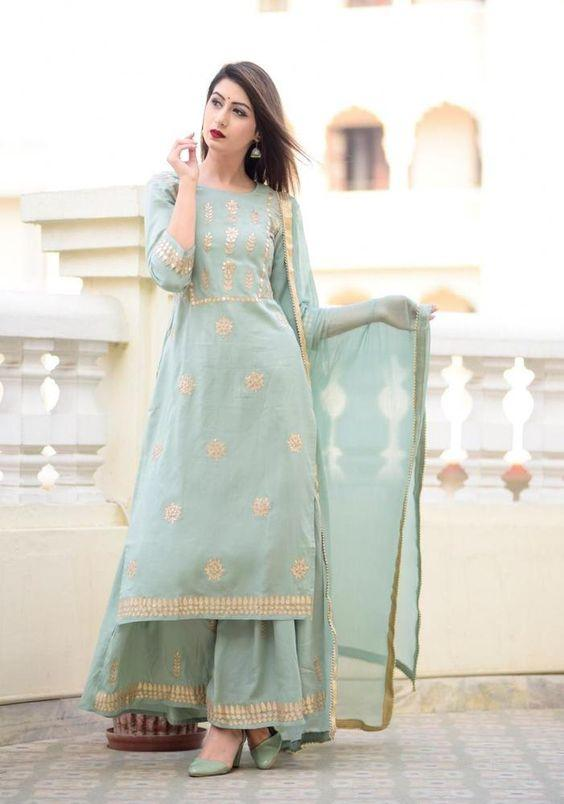 Kurta Sharara With Dupatta set Flare Top Tunic Set blouse Combo Ethnic