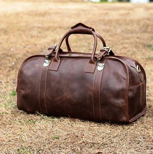 Leather Travel Bag Mens With Lock